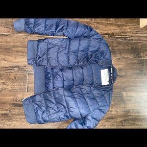 Garage navy blue bomber jacket